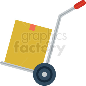 hand moving dolly vector flat icon clipart with no background .  Royalty.