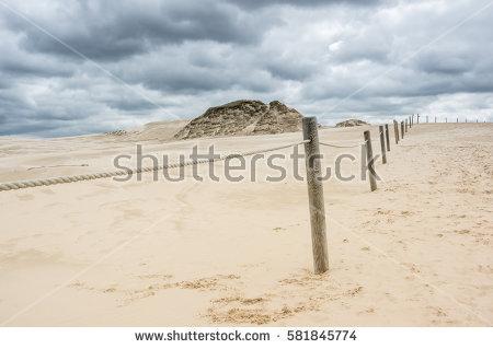 Leba Desert Landscape Stock Photos, Royalty.