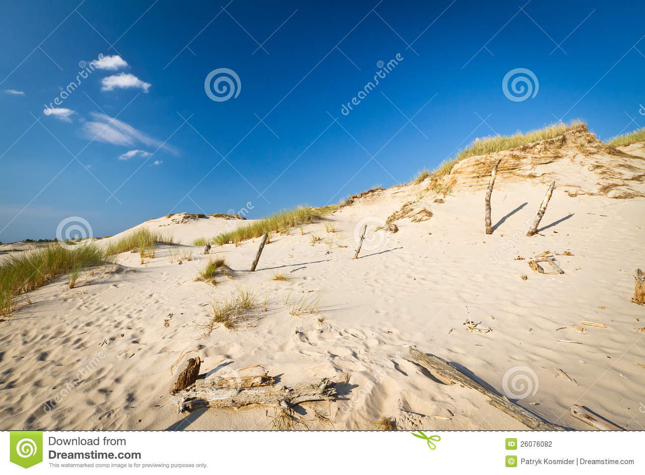 Moving Dunes In Leba, Poland Stock Photography.