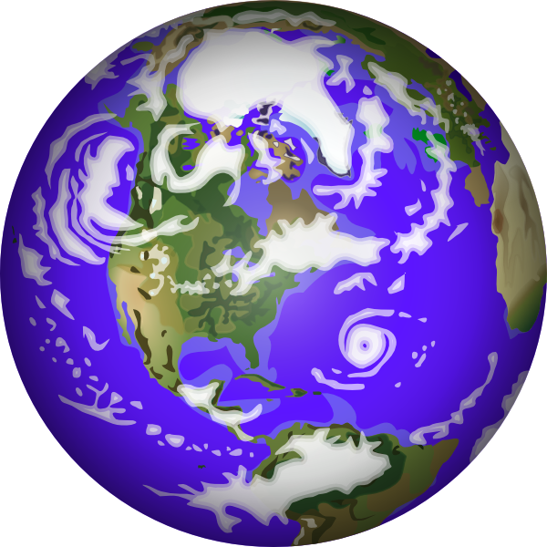 Moving Animated Planets Clipart.