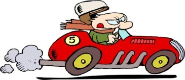 Car Going Fast Clipart.