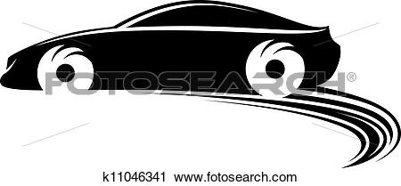 Clipart of Fast moving car k11046341.