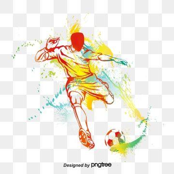Football Player Silhouette, Football Clipart, Football.
