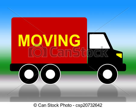 Moving House Represents Change Of Address And Lorry.