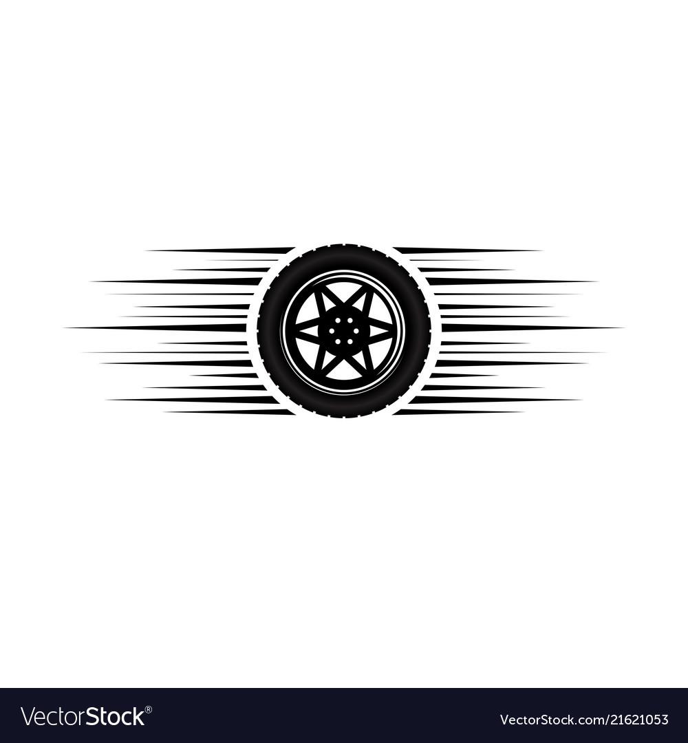 Car wheel moving logo.
