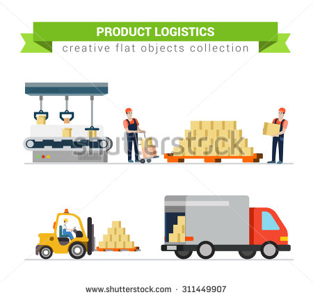 Loading Truck Stock Images, Royalty.