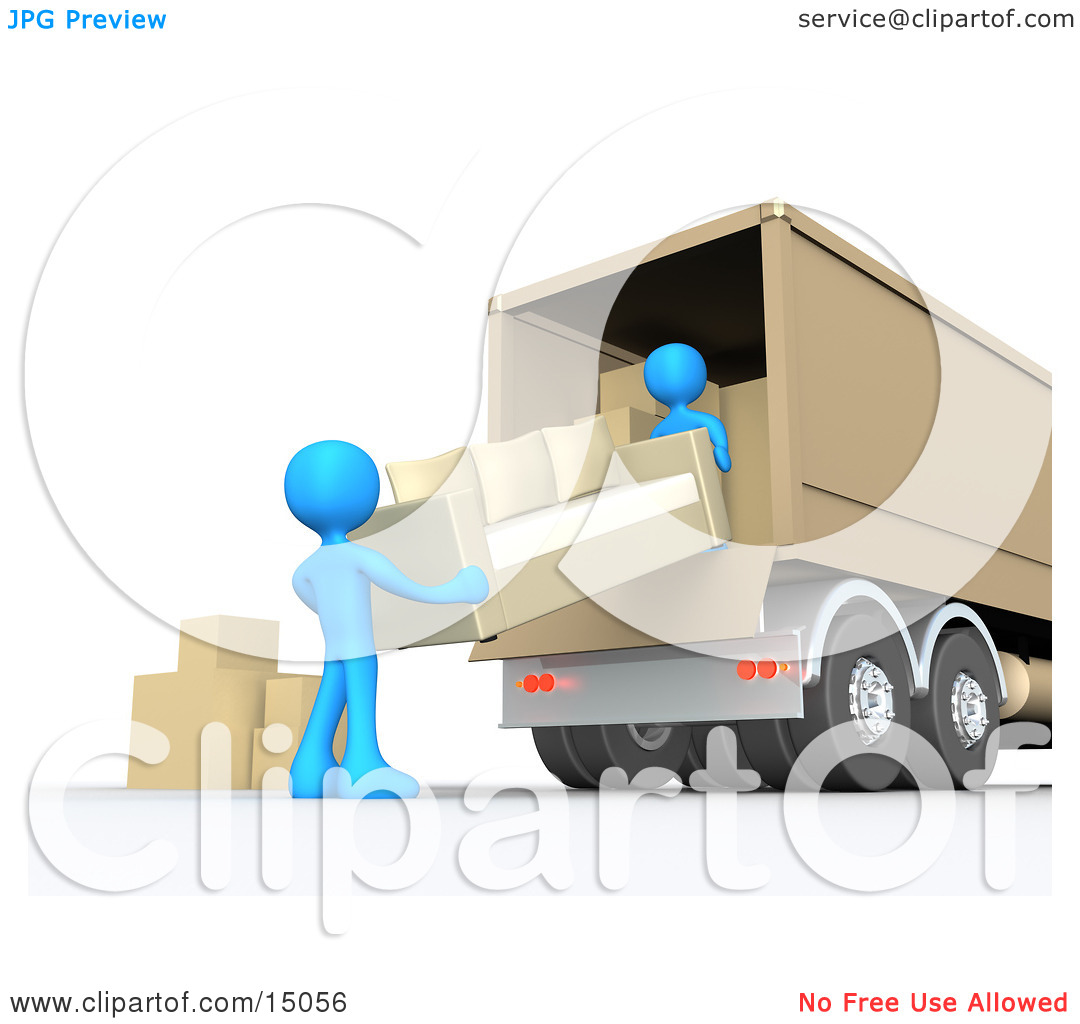 Loading truck clipart.