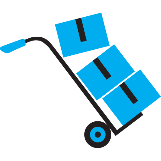 Moving and Packing 01 Blue Icon.