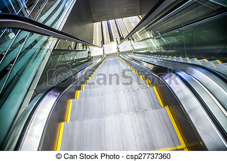 Stock Image of Airport moving sidewalk also travelator, walkalator.