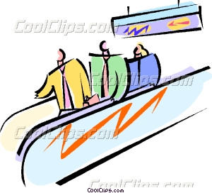 standing on a moving sidewalk Vector Clip art.