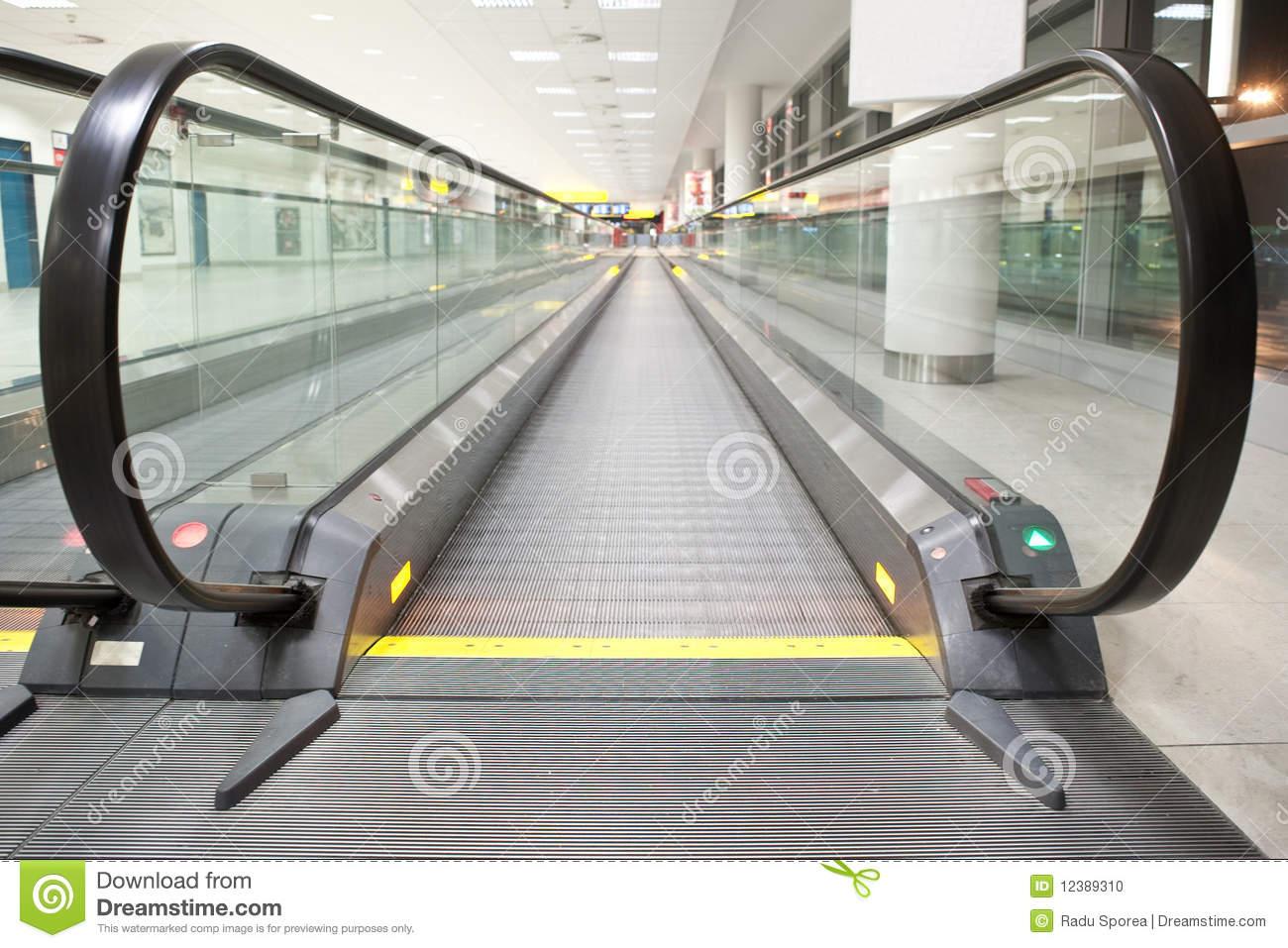 Moving Walkway Stock Photo.