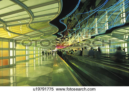 Stock Image of Moving Sidewalk at the Airport u19791775.