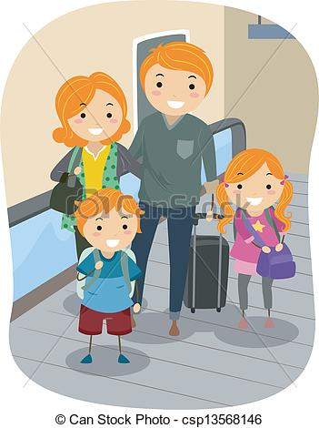EPS Vector of Family in a Moving Walkway.