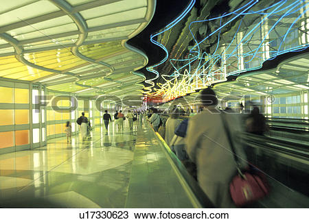 Stock Photo of Moving Sidewalk at the Airport u17330623.