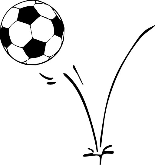 Bouncing soccer ball clipart.