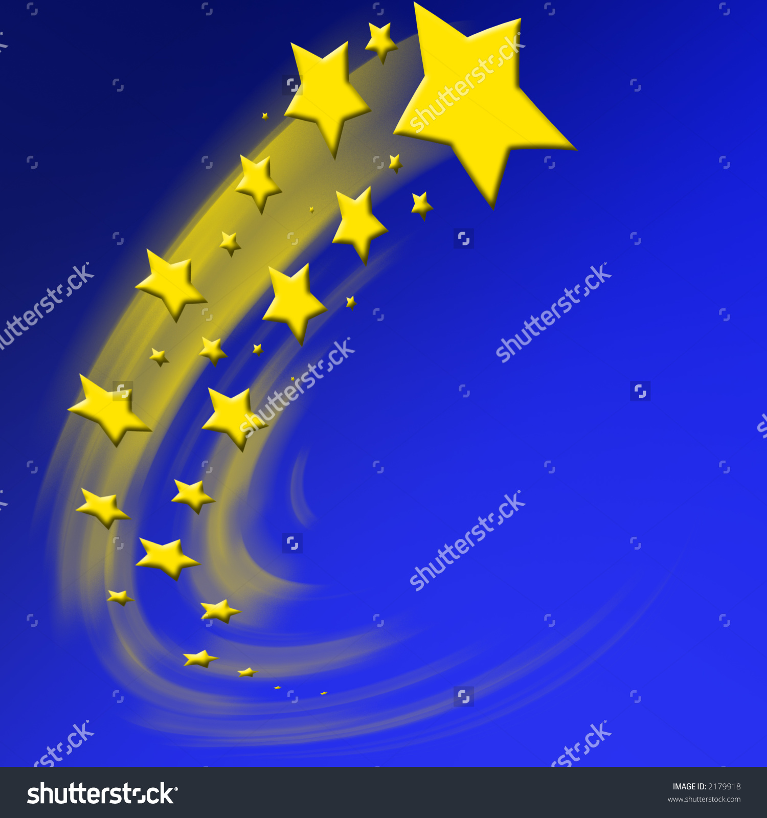 Fast Moving Stars Stock Illustration 2179918.