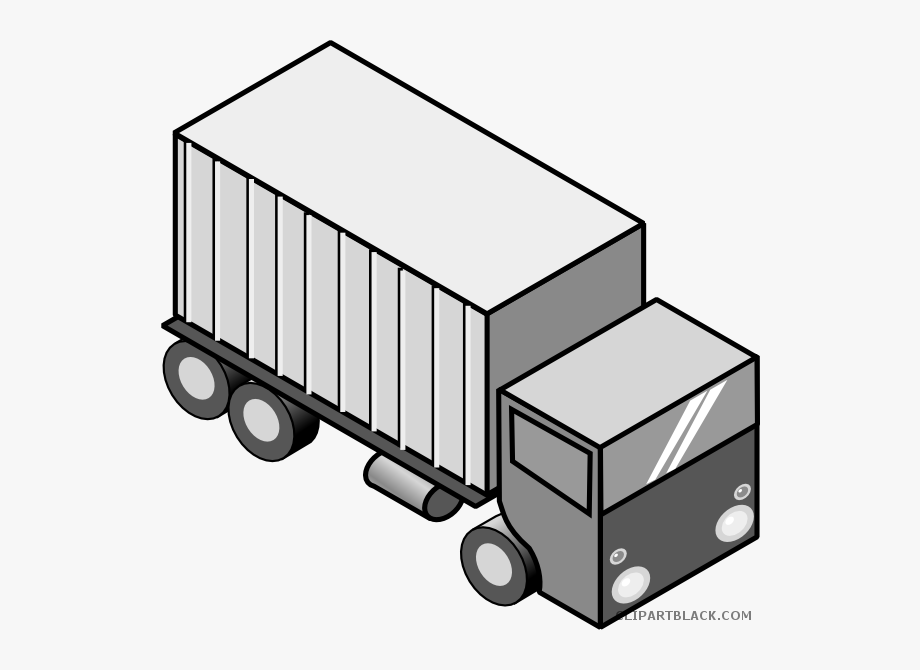 Moving Truck Clipart Black And White.
