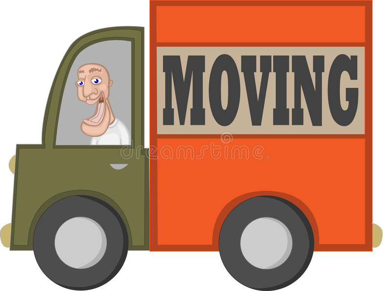 Cartoon Moving Truck Stock Illustrations.