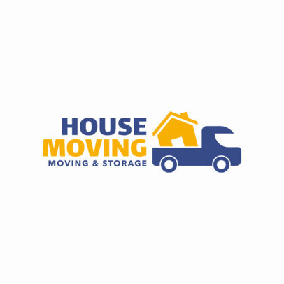 Moving Company Logo Maker with Truck Graphics 1181e.