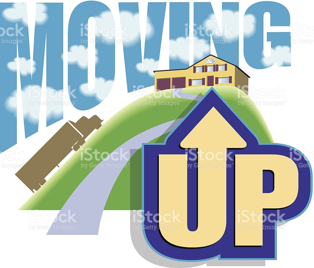 Moving Up Heading stock vector art 474996209.