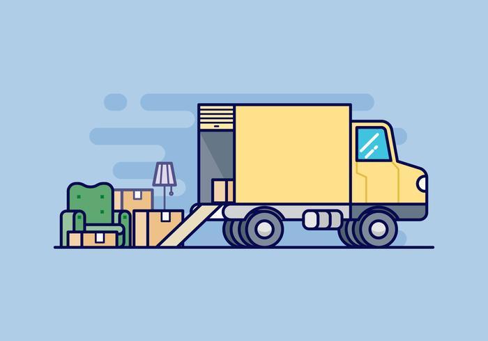 Moving Van Illustration.