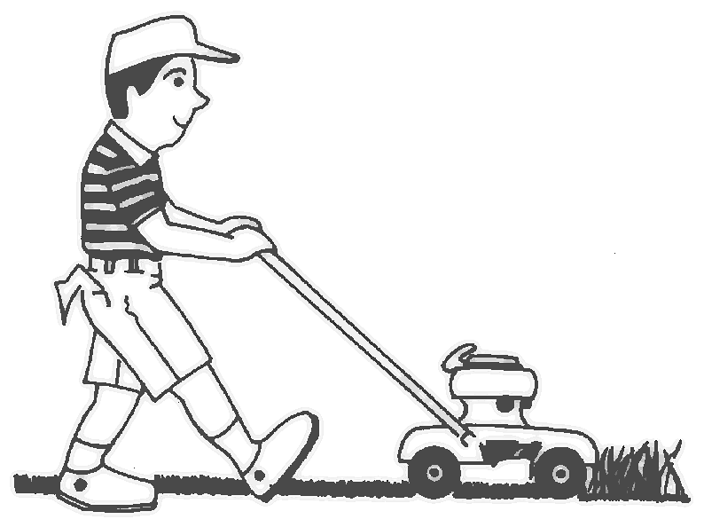 Showing post & media for Cartoon lawn boy clip art.