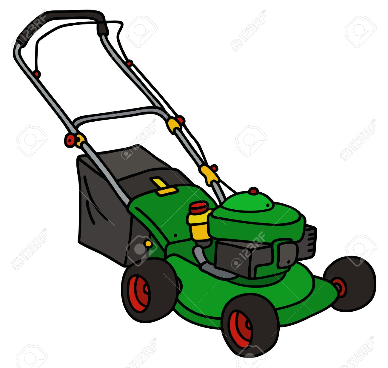 Clipart lawn mower 5 » Clipart Station.