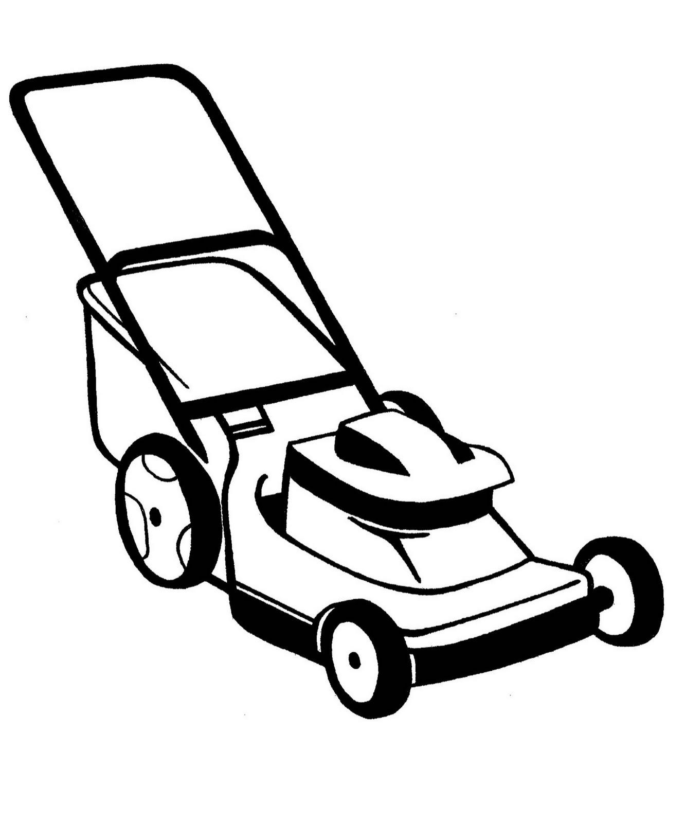 Push mower clipart.
