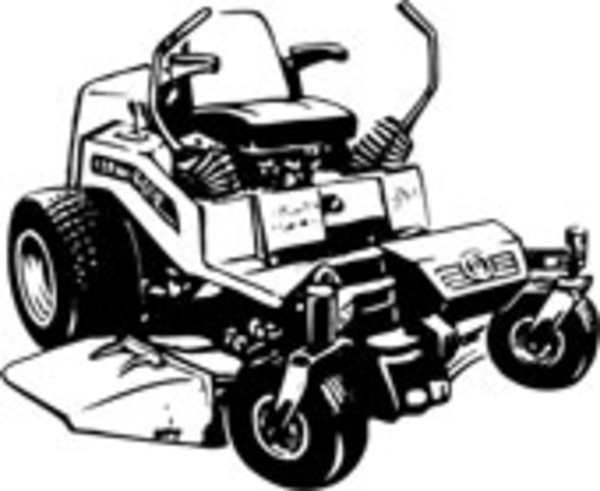 Riding Lawn Mower Clipart.