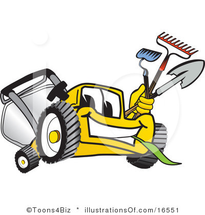 Cartoon Lawn Mower Clipart.