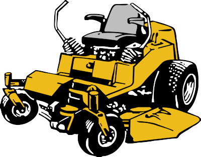 Lawn mower commercial lawn mowing clipart.
