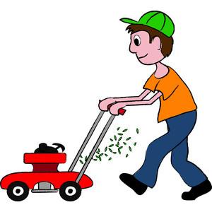 Lawn mowing clip art.