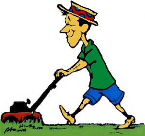 Lawn Mowing Clipart.