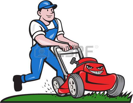 734 Lawn Mower free clipart.
