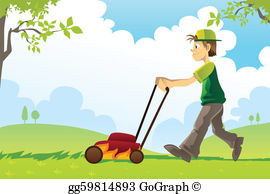 Mowing The Lawn Clip Art.