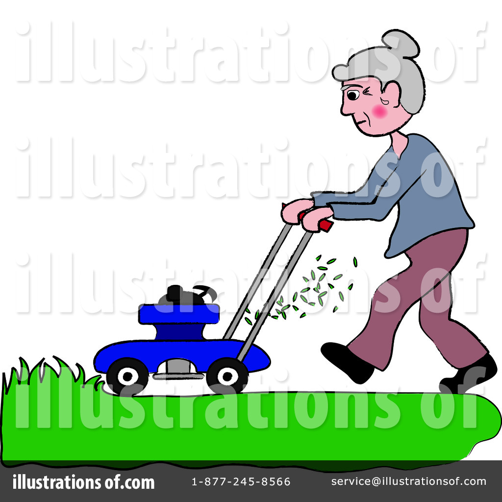 Lawn Mowing Clipart #94205.