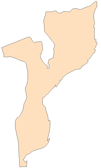 Clipart map of mozambique.