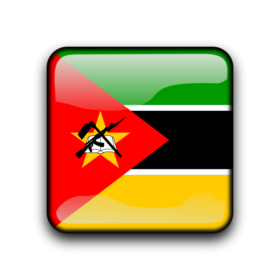 Flag of Mozambique Clipart, vector clip art online, royalty free.