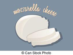 Mozzarella cheese clipart.