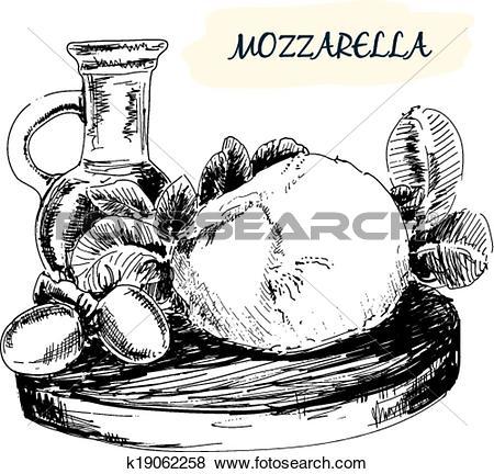 Clip Art of Mozzarella k19062258.