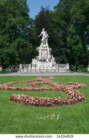 Mozart Monument Maria Theresien Square Vienna Stock Photo 97071905.