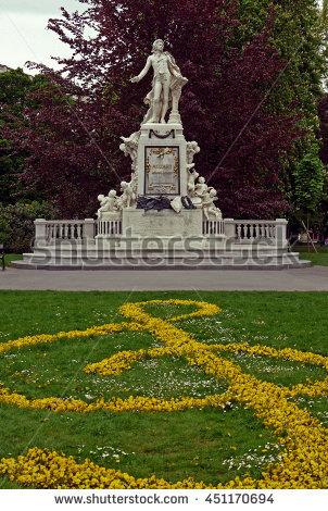 Mozart Denkmal Stock Photos, Royalty.