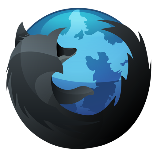Mozilla Firefox Black And Blue Icon, PNG ClipArt Image.