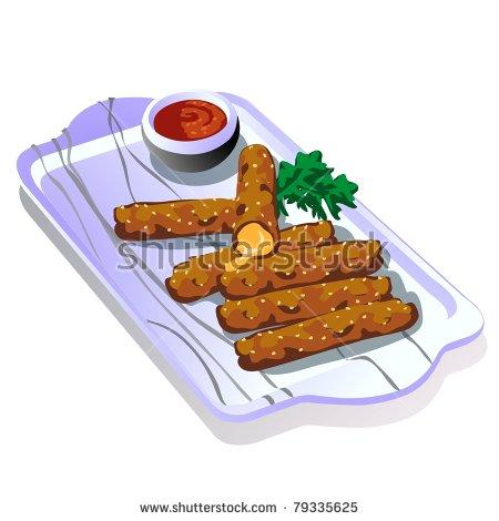 Mozzarella Sticks Clipart.
