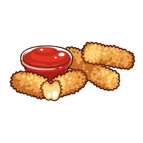 Image result for mozzarella stick clip art.