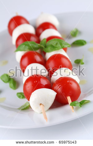 Mozzarella tomato skewers clipart #5