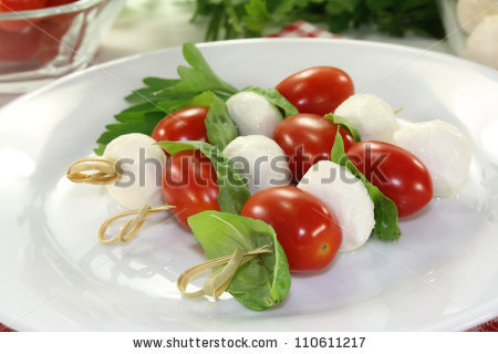 Mozzarella tomato skewers clipart #16