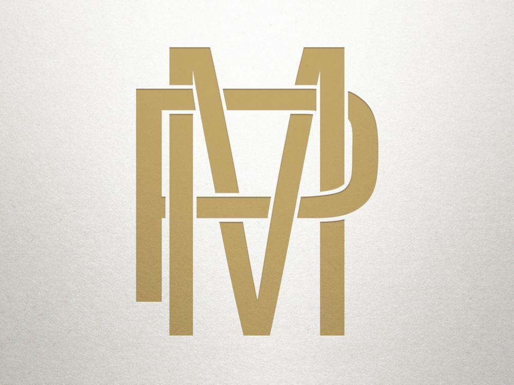 MP monogram PM monogram.