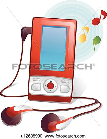 Clipart of MP3 Player, icons, electric appliance, electric.