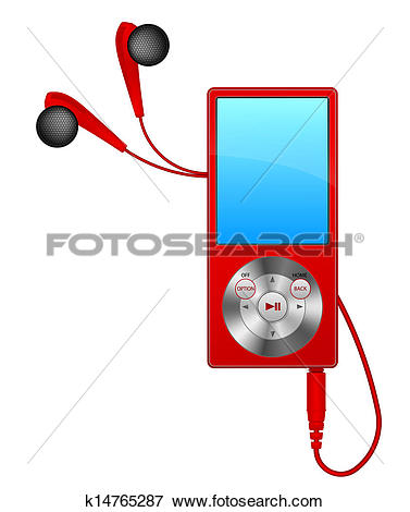 Clip Art of mp3 player k14765287.